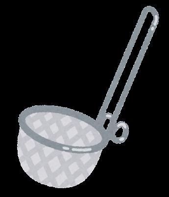 味噌こし器のイラスト