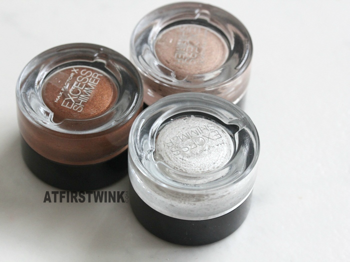Max Factor Excess Shimmer Eye Shadows review