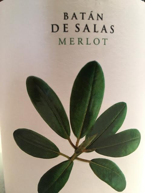 Batan de Salas merlot 2015. Detalle de la etiqueta.