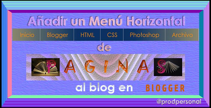 Añadir un menú horizontal de páginas al blog