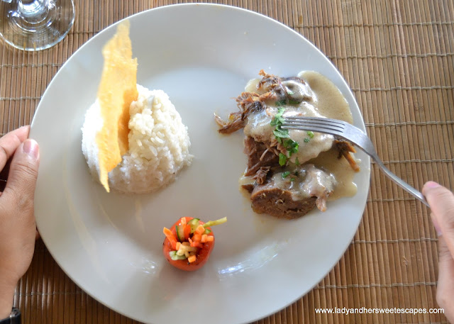 lamb dish at Punong Gary's Place