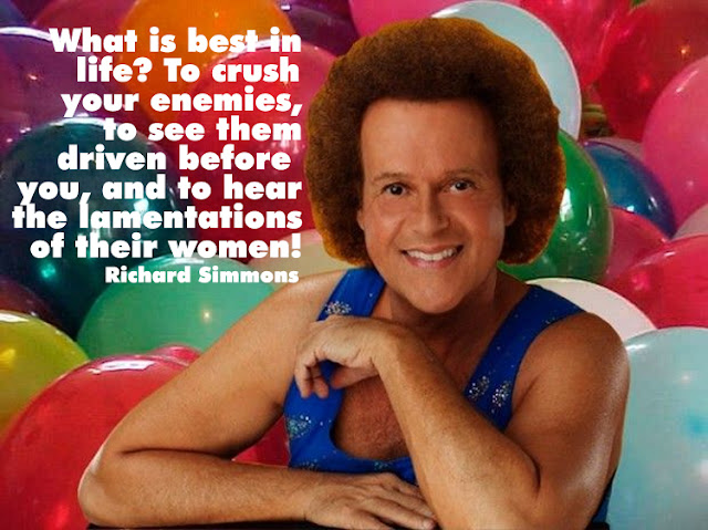 Terrifyingly real Richard Simmons quote