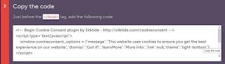Selanjutnya copy kode klik form Copy the Code