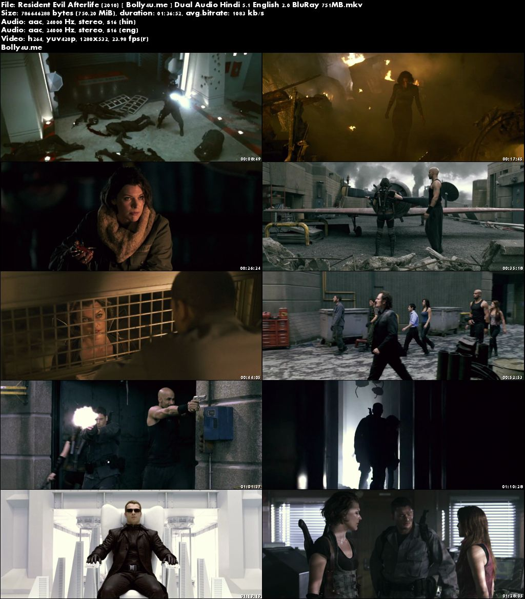 Resident Evil Afterlife 2010 BluRay 300MB Hindi Dual Audio 480p Download