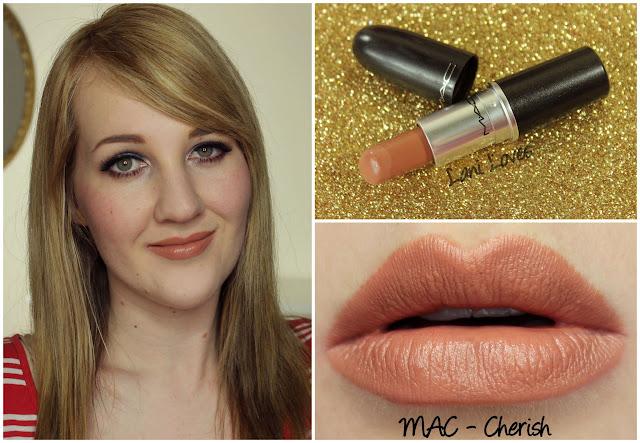 MAC Cherish lipstick swatch