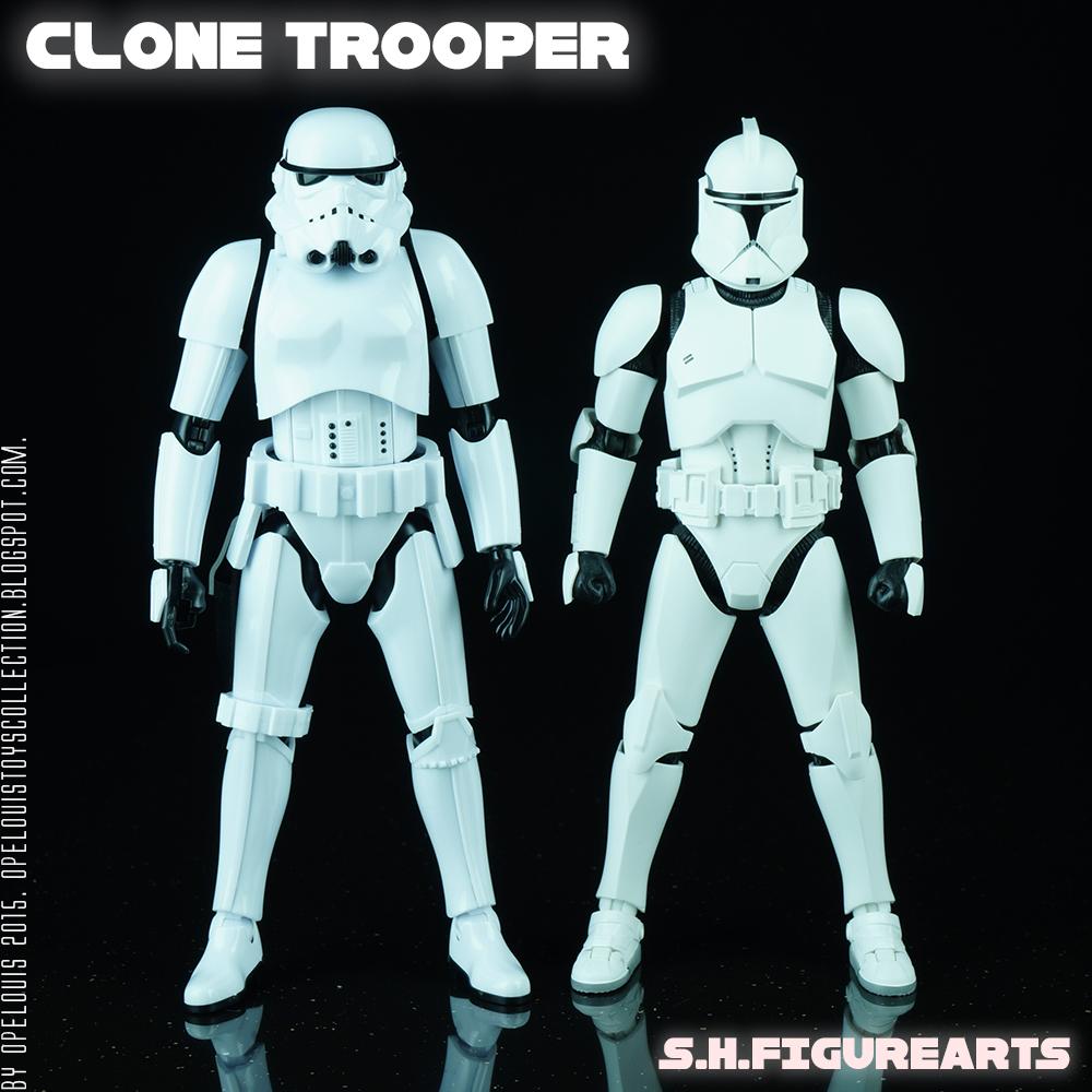 Phase 3 clone trooper - Phase 2 Geonosis clone trooper : lego