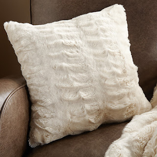 Arhaus Ivory Faux Fur Pillow