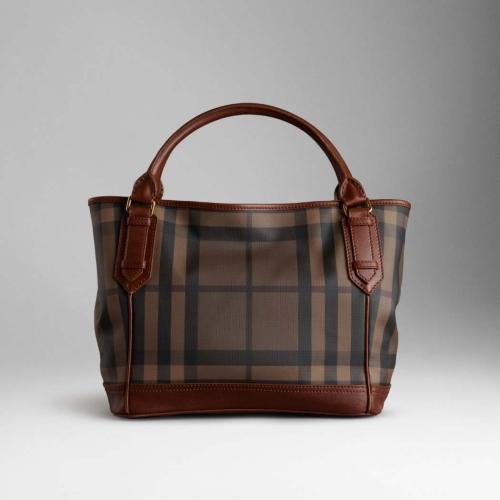 676228ab02ac dashu26 blogspot blog  Burberry Medium Smoked Check Tote Bag Dark ...