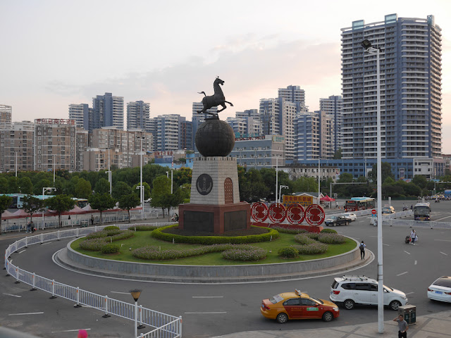China National Tourism Administration Flying Horse of Gansu sculpture at the Ganzhou Railway Station