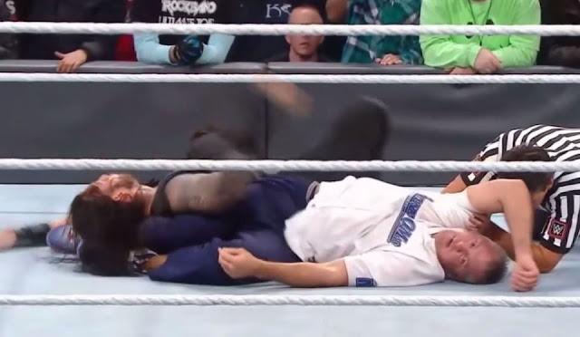 Survivor Series 2016 Shane McMahon unconscious