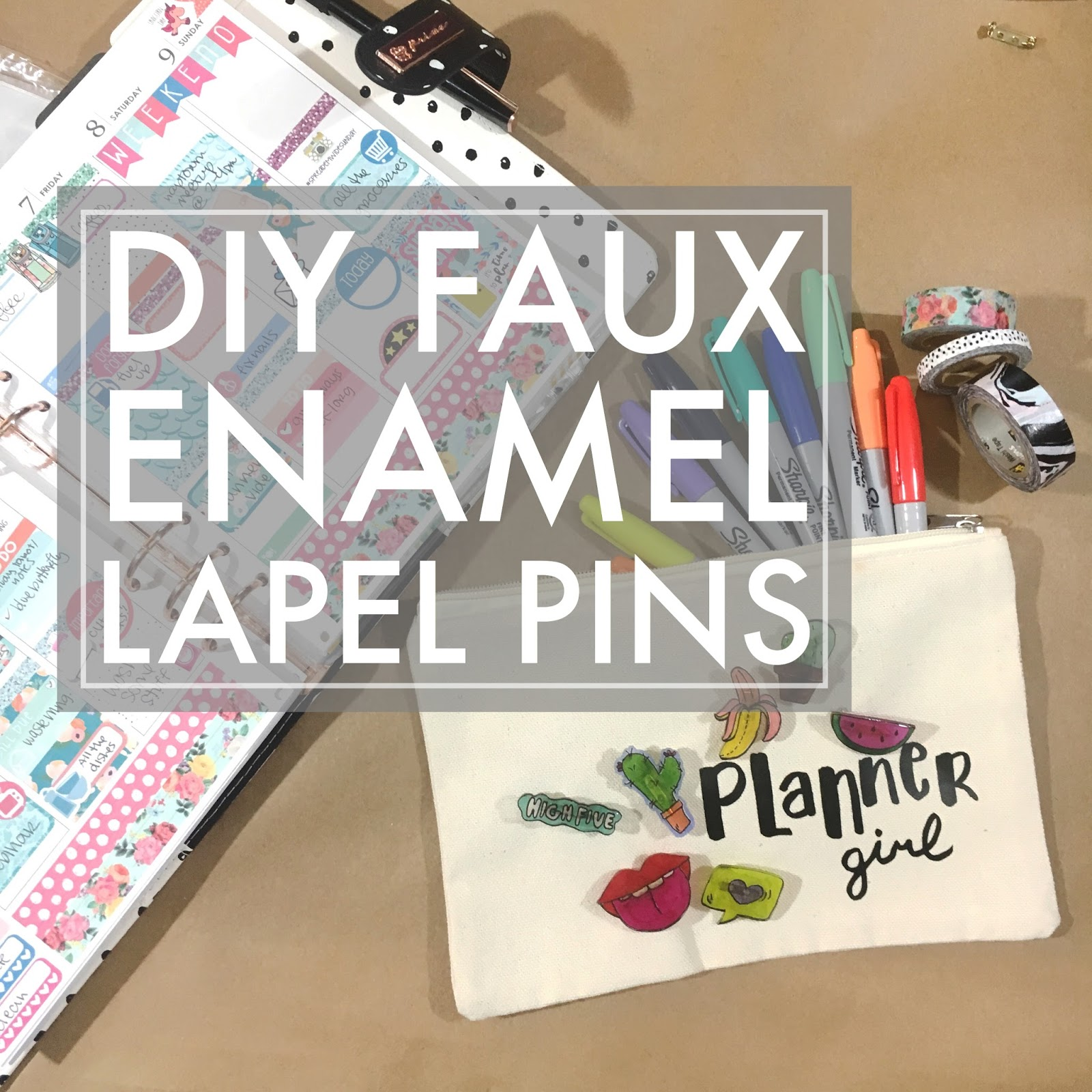 Since I Canu0027t Afford Every Single Pin Out There And Iu0027m 100% Into DIYing  Anything I Can, Iu0027m Excited To Share With You A Fun And Easy Way To Make  Cute Pins ...