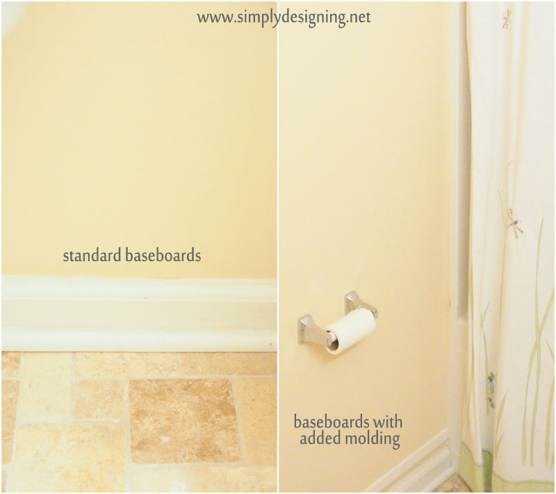 Heighten Baseboards and DIY Wood Paneling | a tutorial how to build and install your own wood paneling | #DIY #bathroom #paneling