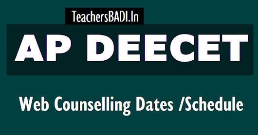 AP DEECET 2018 1st / 2nd Phase Web Counselling Dates /Schedule