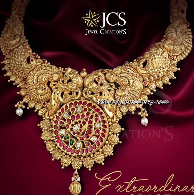 Traditional Peacock Necklace by JCS