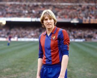 Schuster con la maglia del Barcellona