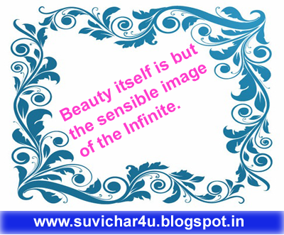 Beauty itself is but the sensible