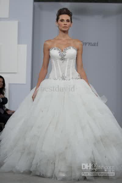 Pnina Tornai Bridal Ball Gown See Through   Bridal Wedding Prom