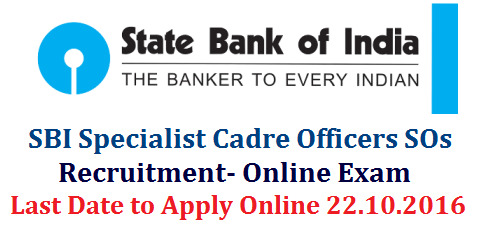 SBI 476 Specialist Officers Recruitment 2016 Apply Online  State Bank of India (SBI) invites online application forms from young professionals for recruitment of the posts of Specialist Cadre Officers On Regular And Contract Basis.Online Applications for SBI Specialist Cadre Officers in State Bank of India sbi-476-specialist-officers-recruitment-state-bank-of-india-apply-for-online-test