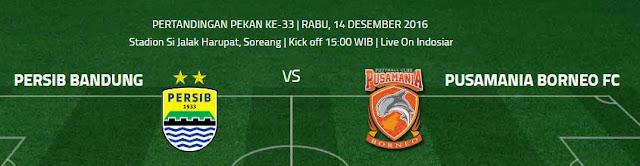 Preview Persib Bandung vs Pusamania Borneo FC Rabu 14 Desember 2016
