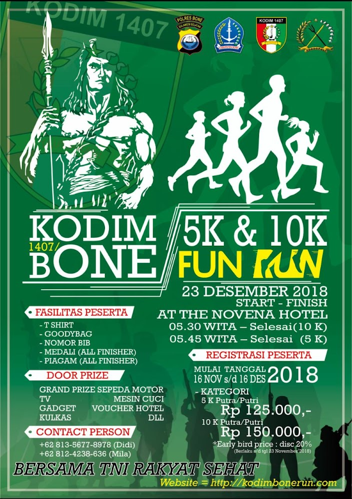 Kodim 1407 / Bone Fun Run • 2018