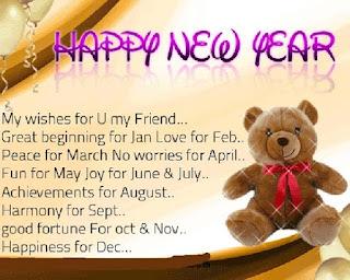 Greeting card Happy New Year kartu ucapan bahasa Inggris - berbagaireviews.com