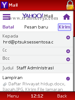 Cara Kirim Email Lamaran Kerja Via HP