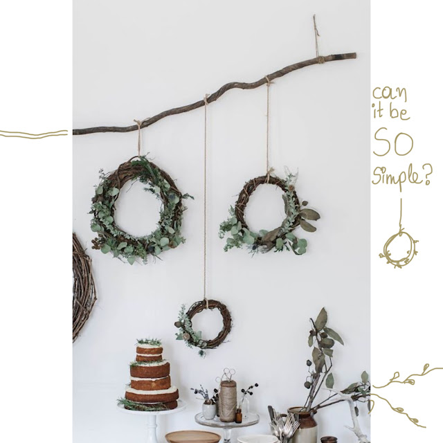 many small wreaths minimalist the round button blog