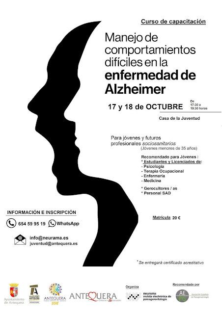 Curso sobre comportamientos difíciles en Alzheimer en Antequera