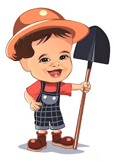 caricatura fazendeiro infantil