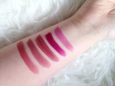 MAC Satin Lipstick Swatches