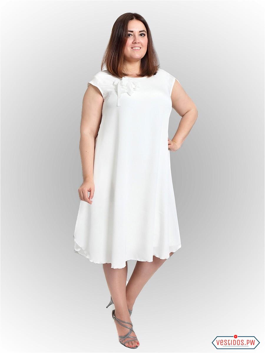 Vestidos blancos playeros para gorditas
