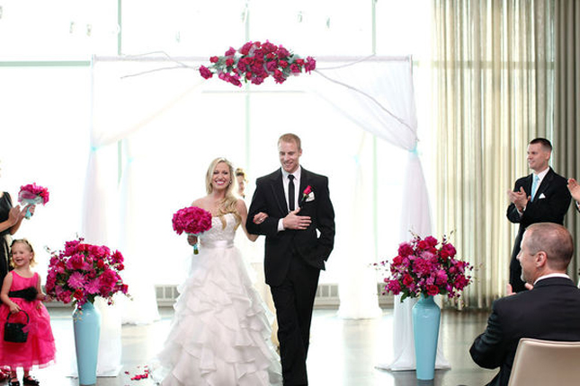 Sophisticated Contemporary Wedding Ceremony In: {Steal Worthy Weddings} A Contemporary DIY Event