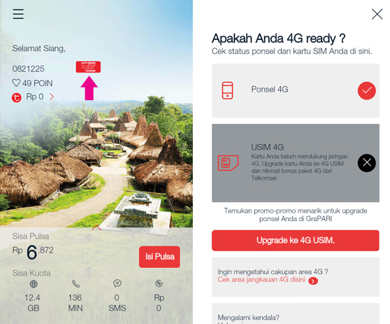 Cara Cek Kartu Telkomsel 4G melalui Aplikasi