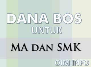 Dana BOS MA dan SMK