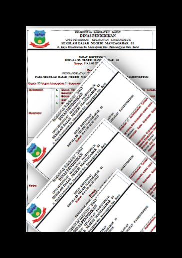 Kumpulan Surat Keputusan (SK) Kepala Sekolah