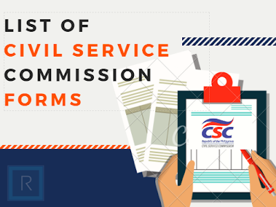 List of Civil Service Commission Forms