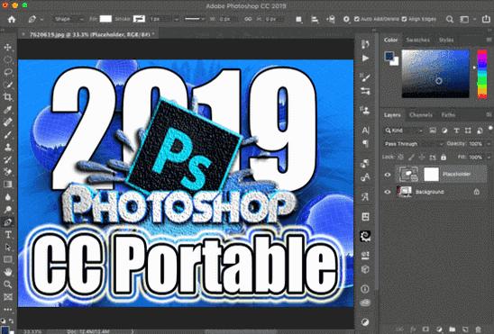 تحميل برنامج Adobe Photoshop CC 2019 Portable نسخة محمولة مفعلة اخر اصدار