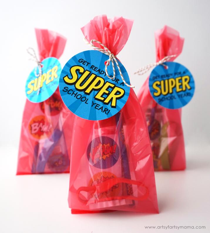 Back to School Superhero Goodie Bags