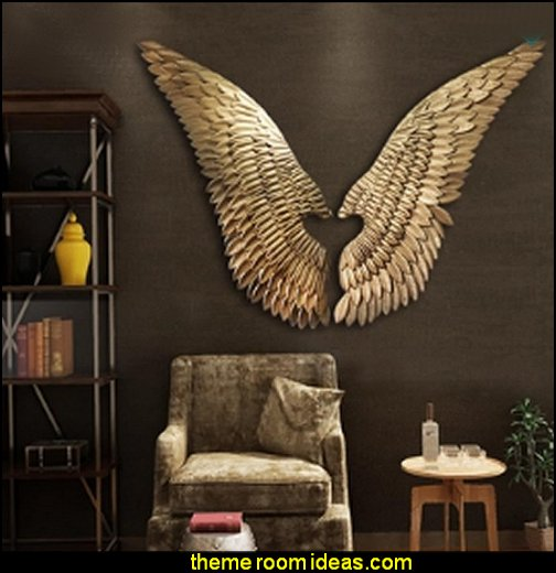Golden Wings Classic Style mythology theme bedrooms - greek theme room - roman theme rooms - angelic heavenly realm theme decorating ideas - Greek Mythology Decorations -  angel wall lights - angel wings decor - angel theme bedroom ideas - greek mythology decorating ideas - Ancient Greek Corinthian Column - Spartan Warrior Gladiators - Greek gods - Angel themed baby room - angel decor - cloud murals - heaven murals - angel murals - ethereal heavenly style