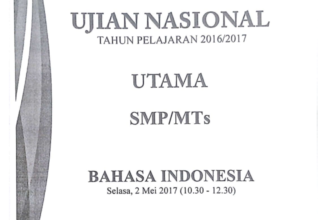 KUNCI JAWABAN DAN PEMBAHASAN SOAL UN 2016/2017 BAHASA ...