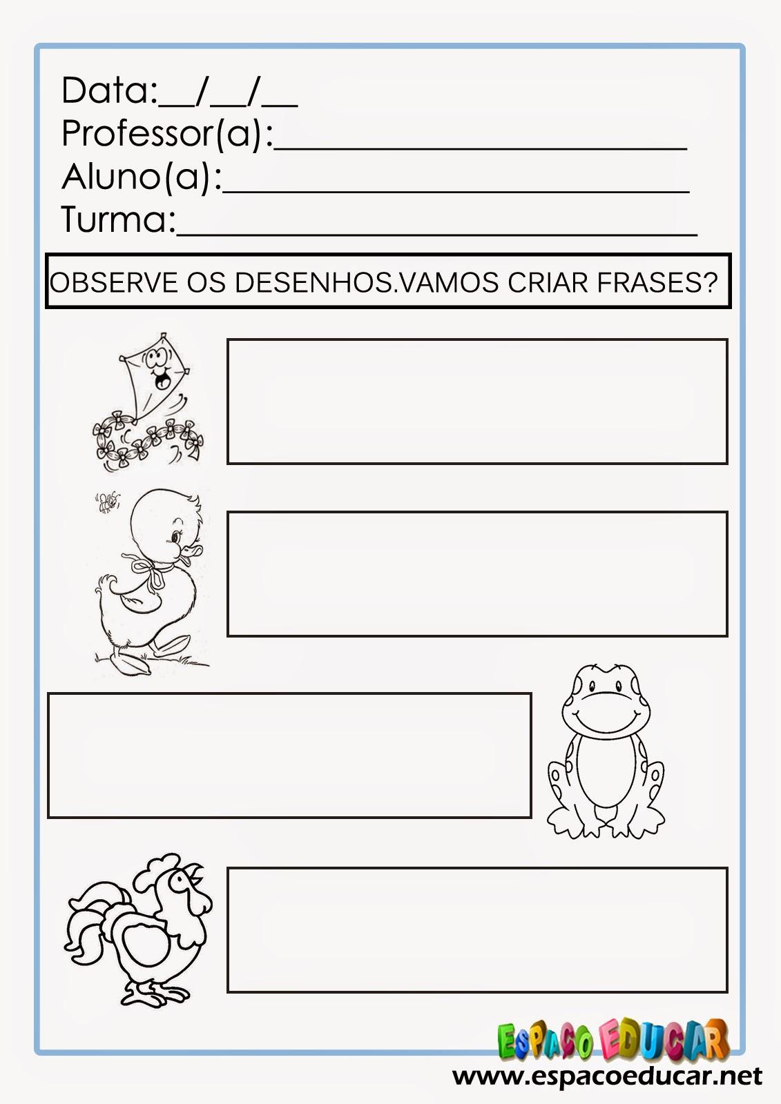 Atividades De Alfabetização Para Imprimir Vamos Escrever E