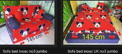 Sofa bed inoac ukuran no 3 jumbo