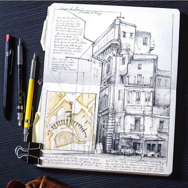 05-Campo-dei-Fiori-Rome-Italy-Jerome-Tryon-Moleskine-Book-with-Sketches-and-Notes-www-designstack-co