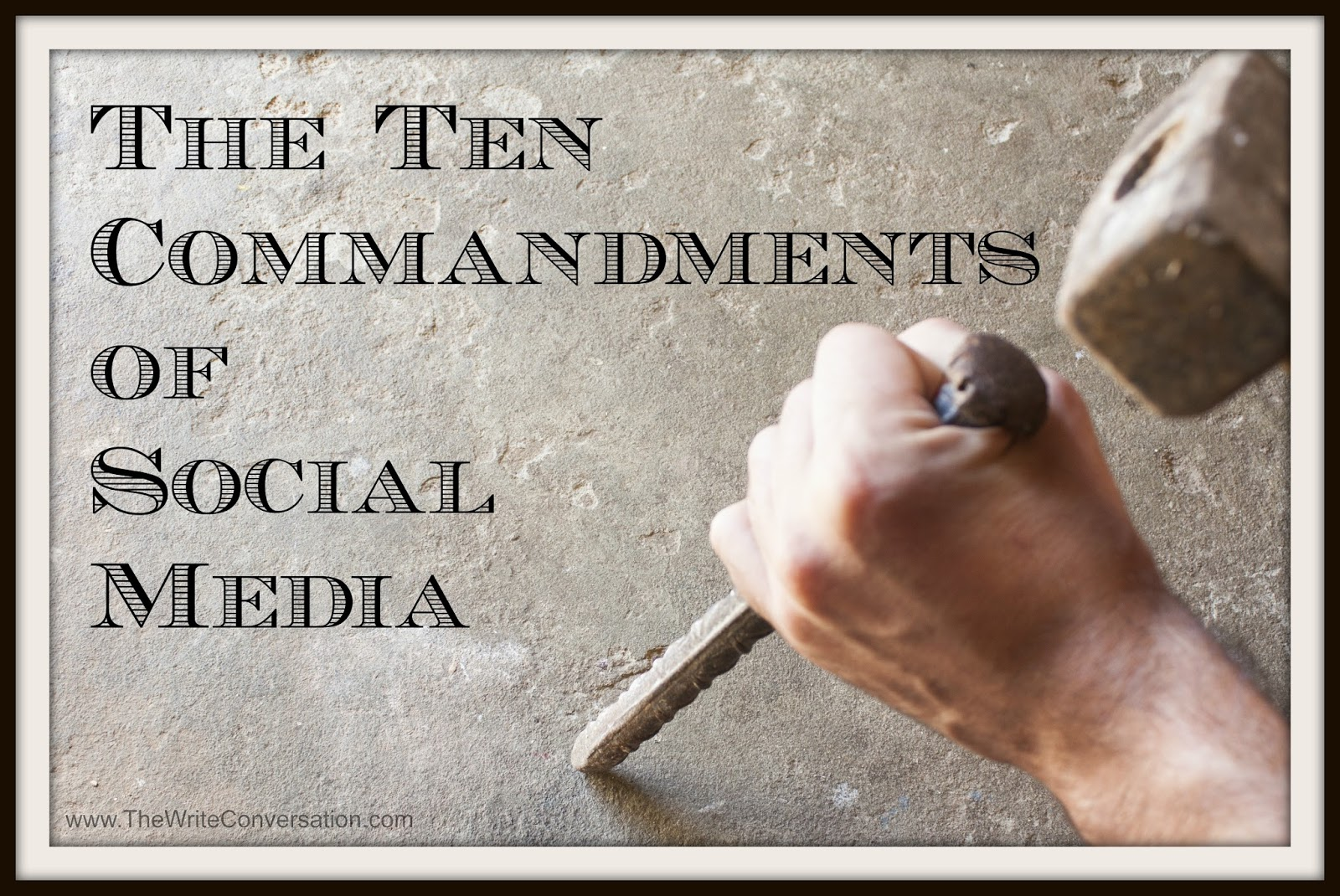 commandments of essay writing Ten commandments for writing essays and exams i don't make the reader guess your point of view the introduction to your essay should have a.