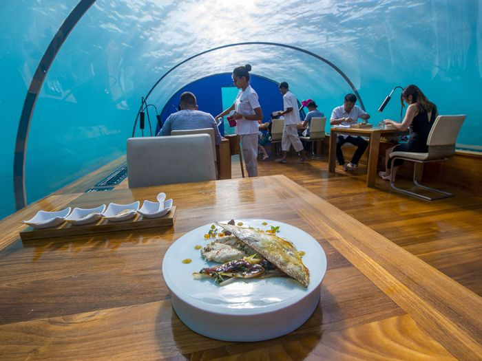 Conrad Maldives Rangali, Podwodny hotel, Hotele, hotel na dnie jeziora, hotel na morzu, hotel na wodzie, Zanzibar, Malediwy,
