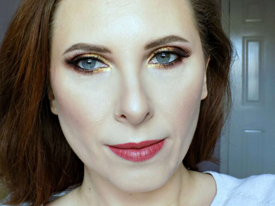 Makeup look using Zoeva Caramel Melange palette