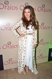 Sana Khan Pictures in Stylish Dress at Oraios Spa Launch ~ Celebs Next