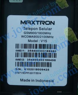 cara hard reset  maxtron v15