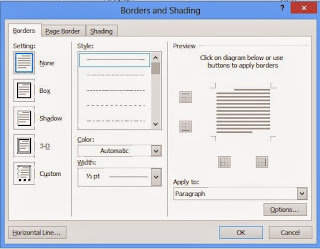 Gambar Kotak Dialog Borders and Shading