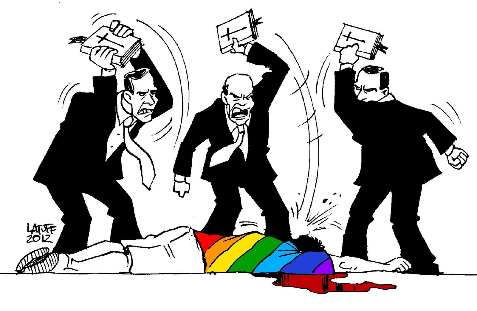 Ilustração contra cristãos